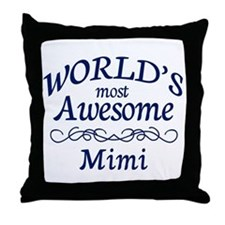 Awesome Mimi Throw Pillow
