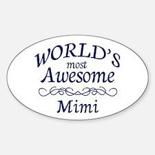 Awesome Mimi Sticker (Oval)