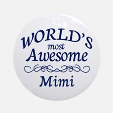 Awesome Mimi Ornament (Round)