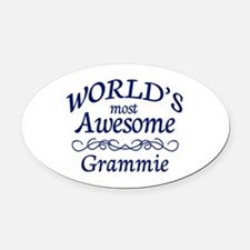 Awesome Mimi Oval Car Magnet