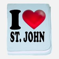I Heart St. John baby blanket