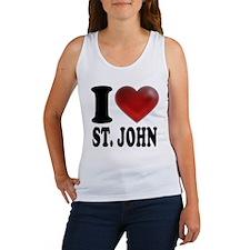 I Heart St. John Women's Tank Top