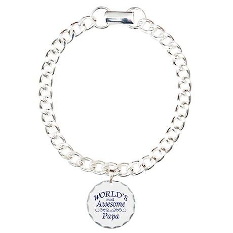Awesome Papa Charm Bracelet, One Charm