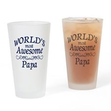 Awesome Papa Drinking Glass
