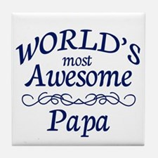 Awesome Papa Tile Coaster