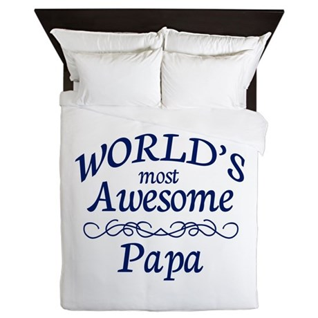 Awesome Papa Queen Duvet