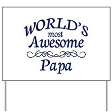 Awesome Papa Yard Sign