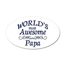Awesome Papa Wall Decal