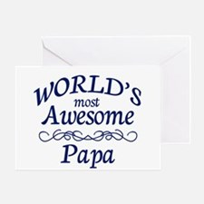 Awesome Papa Greeting Card