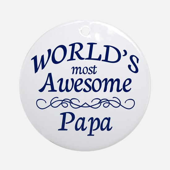 Awesome Papa Ornament (Round)