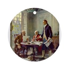 Declaration of Independence 1776 Ornament (Round)