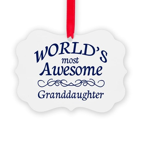 Awesome Granddaughter Picture Ornament