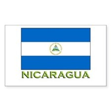 Nicaragua Flag Stuff Rectangle Decal