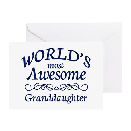 Awesome Granddaughter Greeting Card