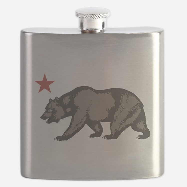 California Bear with star Flask
