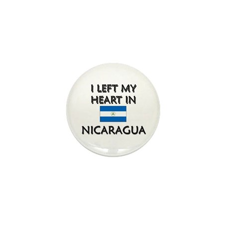 I Left My Heart In Nicaragua Mini Button