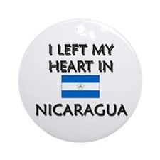 I Left My Heart In Nicaragua Ornament (Round)