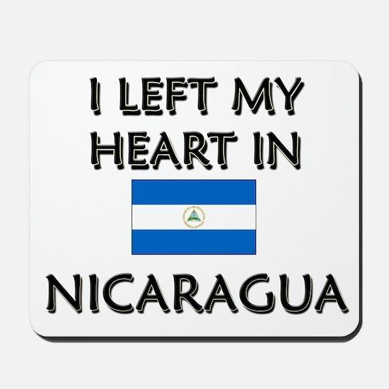 I Left My Heart In Nicaragua Mousepad