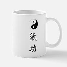 white Qigong vert yin yang.png Small Small Mug