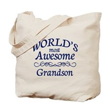 Awesome Grandson Tote Bag