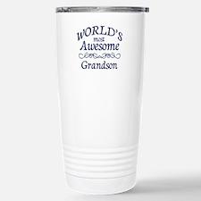 Awesome Grandson Stainless Steel Travel Mug