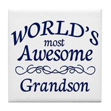 Awesome Grandson Tile Coaster