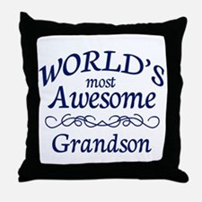 Awesome Grandson Throw Pillow