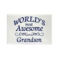 Awesome Grandson Rectangle Magnet