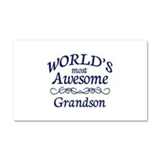Awesome Grandson Car Magnet 20 x 12