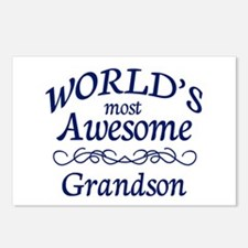 Awesome Grandson Postcards (Package of 8)