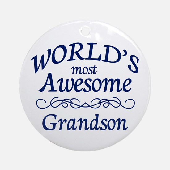 Awesome Grandson Ornament (Round)