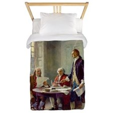 Declaration of Independence 1776 Twin Duvet