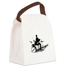 Drummer Drumming Canvas Lunch Bag