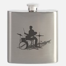 Drummer Drumming Flask