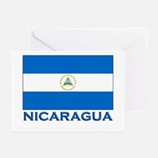 Nicaragua Flag Gear Greeting Cards (Pk of 10)