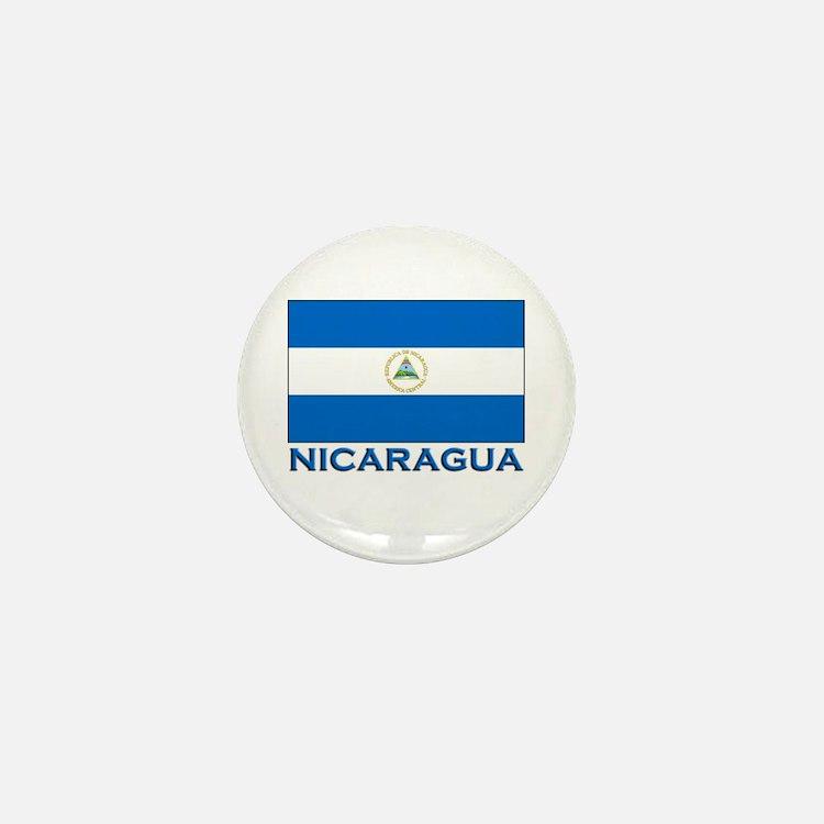 Nicaragua Flag Gear Mini Button