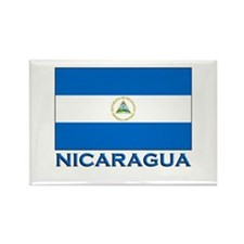 Nicaragua Flag Gear Rectangle Magnet