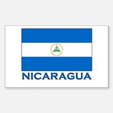 Nicaragua Flag Gear Rectangle Decal
