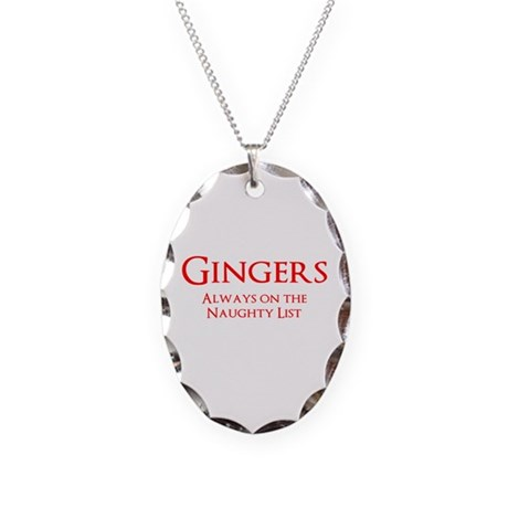 Gingers Naughty List Necklace Oval Charm