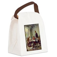 Declaration of Independence 1776 Canvas Lunch Bag