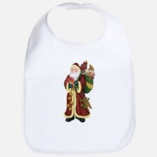 Santa Claus In The Forest Bib