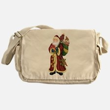Santa Claus In The Forest Messenger Bag