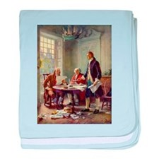Declaration of Independence 1776 baby blanket