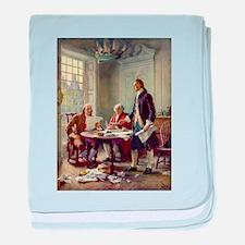 Declaration of Independence 1776 baby blanket