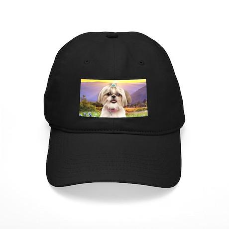 Shih Tzu Meadow Black Cap