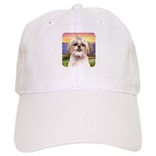 Shih Tzu Meadow Baseball Cap