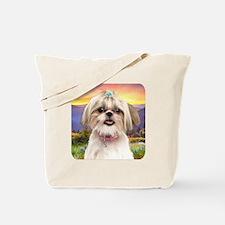 Shih Tzu Meadow Tote Bag