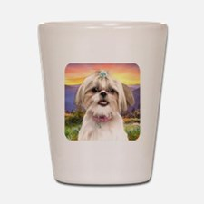 Shih Tzu Meadow Shot Glass