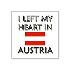 I Left My Heart In Austria Rectangle Sticker