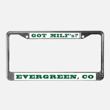 Cute Evergreen colorado License Plate Frame